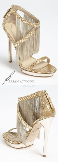 Emmy DE * B Brian Atwood Gold Cassiane High Sandal