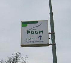 Lichtmastreclame in #Zeist in opdracht van #PGGM.