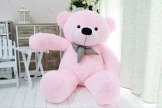 Style: Cute Huge Teddy bear Plush Doll Toy. Therefore the item will be smaller than the pictures shown. Material: High Quality Soft Plush. Color: Pink. The real color of the item may be slightly different from the pictures shown on website.   eBay!