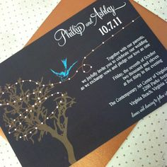 """Rustic Tree and Sparrow Wedding Invitation Suite - """"The Claire"""". $5.00, via Etsy."""
