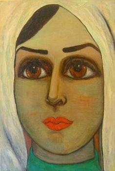 Queen ZEID/Fahrelnissa ZEID (Turkish Painter). Agnes Martin, Bohemian Print, Classical Art, Artist Painting, Islamic Art, Face Art, Art Forms, Contemporary Art, Oriental