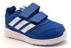7a6af0b586 ADIDAS ALTARUN CF I CQ0028 BLU bianco scarpe ginnastica bambino strappi  tessuto