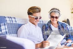 Stock Photo : Grandmother With Grandson Reading Book While Sitting On Sofa At Home Royalty Free Images, Books To Read, Sofa, Stock Photos, Lifestyle, Reading, Photography, Settee, Photograph
