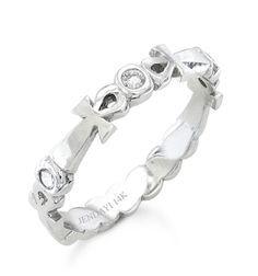 Fancy Ankh Eternity Wedding Band Ankh Wedding Band k White Gold pt carats in Diamonds Eternity Wedding BandsWedding RingsEgyptian