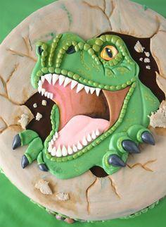 Amazing dinosaur cake!