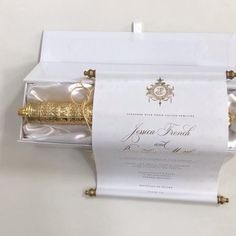 Available in any color way Scroll Invitation, Passport Wedding Invitations, Wedding Invitation Video, Gold Invitations, Invitation Suite, Simple Wedding Cards, Card Box Wedding, Wedding Pins, Wedding Photos