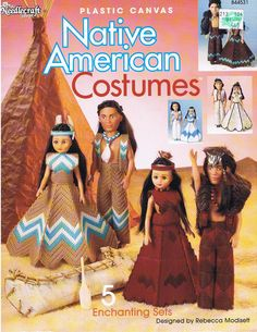 Plastic Canvas Bear Free Patterens | NATIVE AMERICAN COSTUMES Plastic Canvas Pattern Book by M2Hawk