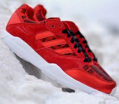 adidas Originals Tech Super – Light Scarlet ... Basie sweater red thin tie to match