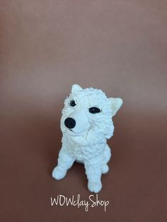"""Are you looking for a topper that features your favourite animal? This eye-catching and original Samoyed cake topper will give your cake a quirky wow factor with this cute. So really there' s no excuse not to have it, right? Beautiful decoration on your dog birthday cake or figurine for collectors...it is a perfect keepsake gift. Material: High quality and special non-toxic polymer clay. Very light, when they fall the floor will not break. They last a lifetime. Dimensions: 2,3"""" (6 cm) Dog Cake Topper, Cake Toppers, Dog Birthday, Birthday Cake, Samoyed, Lion Sculpture, Etsy Seller, Beautiful Decoration, Statue"""