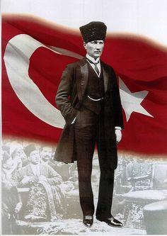 Mustafa Kemal Atatürk - Founder of the Republic of Turkey Ottoman Turks, North Cyprus, Republic Of Turkey, Turkish Army, The Valiant, Love Wall Art, Cultural Identity, How To Create Infographics, Monogram Design