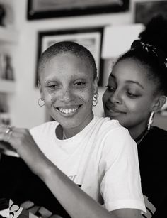 Adwoa Aboah wears T-shirt Gucci. Kesewa wears all clothing and jewelry model's own. Photography Letty Schmiterlow