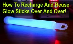 Whether you use glow sticks for fun or for tactical purposes, the fact remains that they are designed to be a single use disposable item... With this little trick you should be able to kind of recharge and reuse good quality glow sticks. Glow...