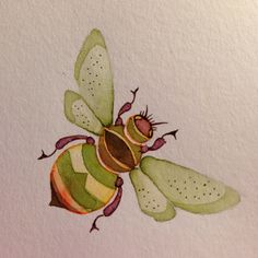 colleenparker:  Bee - A small watercolour