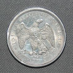 1875 Liberty Seated Twenty Cent Coin by KrokUSCollections on Etsy, $200.00