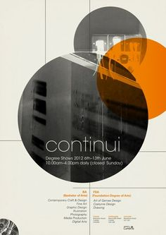 Poster design for the University of Cumbria's summer design exhibition, Continui by Gary Nicholson: