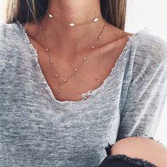 Hazel Drop Lariat Necklace - Gold <3<3