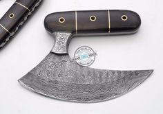 Custom Hand made Beautiful Damascus Steel ULU Knife (AA-0366-2) #KnifeArtist