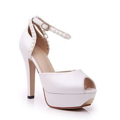 VogueZone009 Women's Soft Material Peep Toe Spikes Stilettos Buckle Solid Sandals * Visit the image link more details.