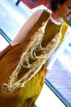 Sunflower Seed Dispersal Necklace (wool) - Jody Dunphy