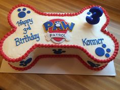Paw Patrol Birthday Cake with instructions in comments