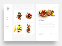 Fine Dining Restaurant Web Ui by Daniel Tan - Dribbble Food Web Design, Web Ui Design, Menu Design, Layout Design, Flat Design, Homepage Design, Cookbook Design, Design Design, Creative Design