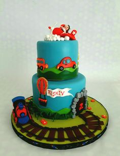Transport themed cake Themed Cakes, Chocolate Cake, Desserts, Food, Theme Cakes, Chicolate Cake, Tailgate Desserts, Chocolate Cobbler, Deserts