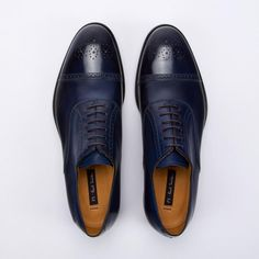 Paul Smith Men's Shoes | Navy Brush-Off Leather Berty Brogues New Shoes, Men's Shoes, Dress Shoes, Paul Smith, Brogues, Men Dress, Oxford Shoes, Navy, Leather