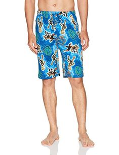 5855c3c1ec Marvel Men's Groot Jam Short, Blue, M: Men's knit guardian of the galaxy  themed jam short featuring groot. 100 percent cotton jersey with a soft and  ...