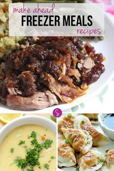 Make Ahead Freezer Meals Recipes - One Whole Month of Meals!