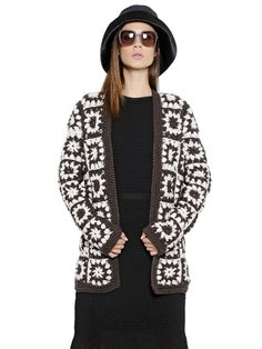 Max Mara Designer #Crochet #Fashion - Granny Square Jacket