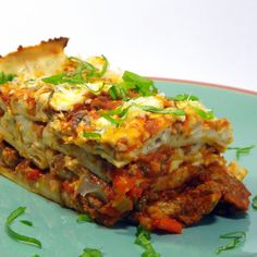 Inspired By eRecipeCards: Traditional Lasagna (Lasagne Tradizionali)... plus recipe for Onion Béchamel Sauce +++++++++++++++++++++++