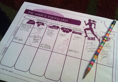 Weekly Training Plan template  runwithjess.com: Printables