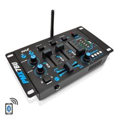 Wireless DJ Audio Mixer Machine - 3 Channel Bluetooth Compatible DJ Controller Sound Mixer System with Mic-Talkover, USB Reader, Dual RCA Phono/Line In, Microphone Input, Headphone Jack - Pyle Dj Mp3, Line Level, Vanz, Channel, Thing 1, Dj Equipment, Android Smartphone, Mixers, Cool Things To Buy