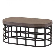 Concrete Styled Top Coffee Table with Metal Base – Allissias Attic & Vintage French Style