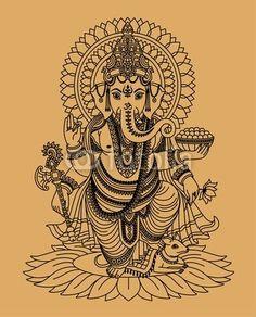 Vecteur : Indian god Ganesha For gidgets table I'm making her