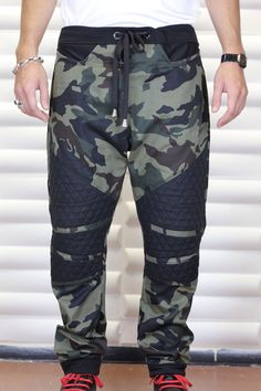 Army Camouflage Or Urban Camo Fabric with Black by C4DApparel