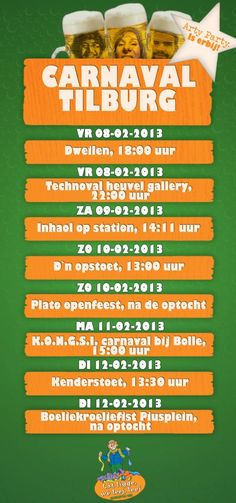 agenda carnaval 2013 arty party
