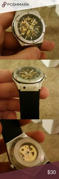 """Lord timepieces """"Bolt"""" watch This is an awesome watch! its is an automatic skeleton watch so you can see all the inside workings! The watch has one bolt missing, this dosent really effect the watch all that much. Lord timepieces Accessories Watches"""