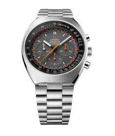 Omega montre Speedmaster Mark II http://www.vogue.fr/joaillerie/shopping/diaporama/horlogerie-montres-bale-2014-baselworld/17999/image/988287#!horlogerie-bale-2014-omega-montre-speedmaster-mark-ii