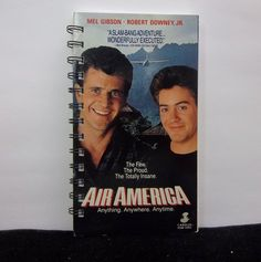 Recycled Notebook From Air America VHS Box by AWRecycledJournals, $8.00