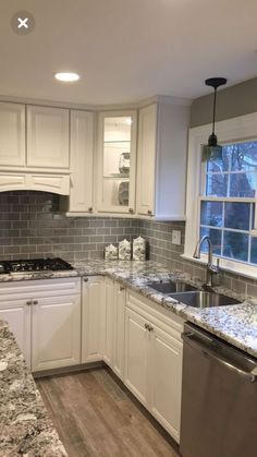 Supreme Kitchen Remodeling Choosing Your New Kitchen Countertops Ideas. Mind Blowing Kitchen Remodeling Choosing Your New Kitchen Countertops Ideas. Grey Kitchen Cabinets, Kitchen Redo, Kitchen Black, Kitchen Countertops, Kitchen Rustic, Kitchen Tile, Ikea Kitchen, 1960s Kitchen, Black Countertops