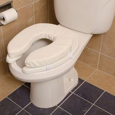 Duro-Med #Toilet #Seat Cushion, Cushioned Toilet Seat, Padded Toilet Seat Cover, Vinyl, 2 Inch<: Health & Personal Care