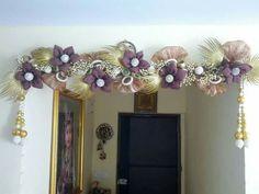 Toran Diwali Diy, Diwali Craft, Indian Crafts, Indian Home Decor, Festival Decorations, Flower Decorations, Hobbies And Crafts, Diy And Crafts, Diwali Decoration Items