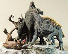 Medan, Bonsai, Monster Hunter Series, Godzilla Toys, Monkey King, Marvel Art, King Kong, Fantasy Creatures, Figurative Art
