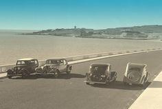 Marginal Lisboa-Cascais, década de 1940 Old Images, Old Pictures, Old Photos, 1940, Foto Real, Lisbon Portugal, Antique Photos, Great Memories, Old City