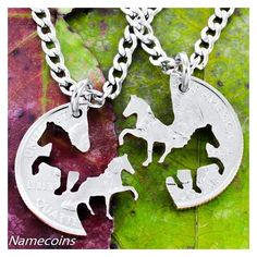 Horse Necklaces, Cowgirl Best Friends Jewelry, Interlocking... ❤ liked on Polyvore featuring jewelry, necklaces, western jewelry, hand crafted jewelry, handcrafted jewellery, handcrafted jewelry and handcrafted necklaces