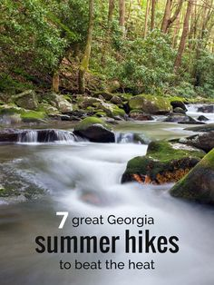 7 great Georgia summer hikes to help beat summer's heat. It's officially summer, and Georgia's dog days are here. Hike these seven hikes through cool North Georgia stream and river valleys, splashing the way to some cool summertime trail time. Backpacking Trails, Camping And Hiking, Hiking Trails, Rv Camping, Hiking In Georgia, Places Worth Visiting, Waterfall Hikes, River Trail, Camping Places