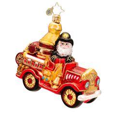 Christopher Radko Five Alarm Santa Ornament $45, You Save $15.00