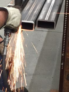 Sparks flying at Spevco as we prepare a chassis for a new mobile museum!