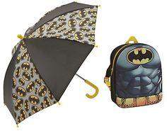 Batman Backpack and Umbrella Childrens Luggage, Kids Umbrellas, Stock Clearance, Robin, Batman, Backpacks, Sports, Argos, Shopping